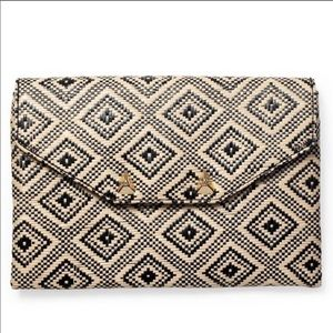 Stella & Dot- diamond raffia clutch